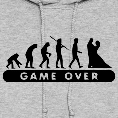 MARRIAGE - GAME OVER Hoodies