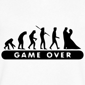MARRIAGE - GAME OVER T-Shirts - Men's V-Neck T-Shirt by Canvas
