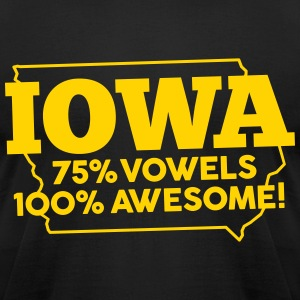 IOWA - 100% AWESOME T-Shirts - Men's T-Shirt by American Apparel