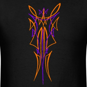PINSTRIPE ORANGE N PURPLE T-Shirts - Men's T-Shirt