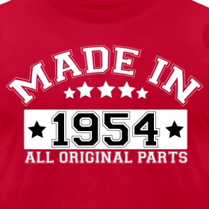 MADE IN 1954 ALL ORIGINAL PARTS T-Shirts - Men's T-Shirt by American Apparel