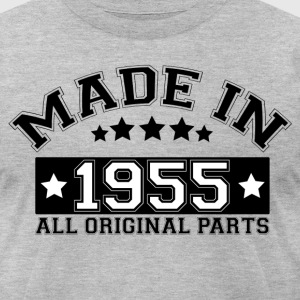MADE IN 1955 ALL ORIGINAL PARTS T-Shirts - Men's T-Shirt by American Apparel