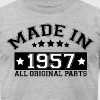 MADE IN 1957 ALL ORIGINAL PARTS T-Shirts - Men's T-Shirt by American Apparel