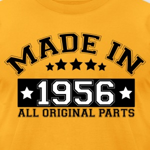 MADE IN 1956 ALL ORIGINAL PARTS T-Shirts - Men's T-Shirt by American Apparel