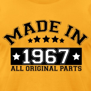 MADE IN 1967 ALL ORIGINAL PARTS T-Shirts - Men's T-Shirt by American Apparel