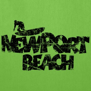Newport Beach Surfing Vintage Black Bags & backpacks - Tote Bag