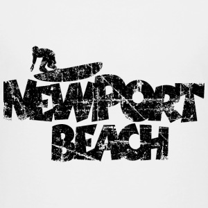 Newport Beach Surfing Vintage Black Baby & Toddler Shirts - Toddler Premium T-Shirt