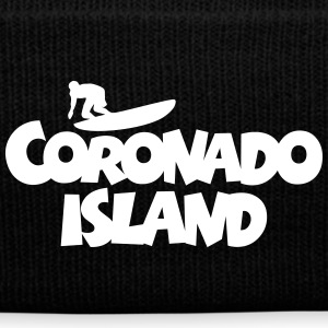 Coronado Island Surf Design for Californian Surfer Caps - Knit Cap with Cuff Print