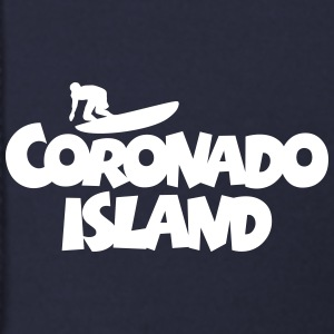 Coronado Island Surf Design for Californian Surfer Zip Hoodies & Jackets - Men's Zip Hoodie