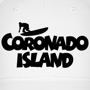 Coronado Island Surf Design for Californian Surfer Caps - Baseball Cap