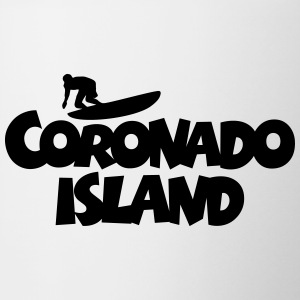 Coronado Island Surf Design for Californian Surfer Mugs & Drinkware - Coffee/Tea Mug