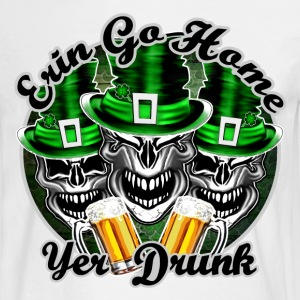 Irish Skull Trio: Erin Go Home, Yer Drunk - Men's Long Sleeve T-Shirt