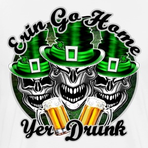 Irish Skulls:Erin Go Home - Men's Premium T-Shirt