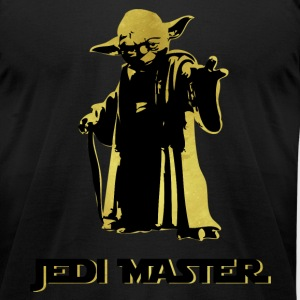Yoda Jedi Master Golden T-Shirts - Men's T-Shirt by American Apparel