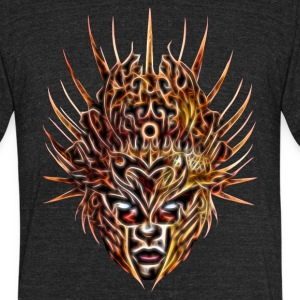 Queen of Flames Mask #1 T-Shirts - Unisex Tri-Blend T-Shirt by American Apparel