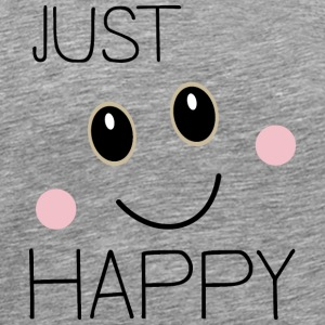 Just Happy Smiley T-Shirts - Men's Premium T-Shirt