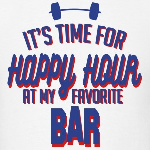 it's time for happy hour at my favorite bar C 2c T-Shirts - Men's T-Shirt
