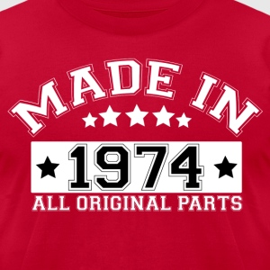 MADE IN 1974 ALL ORIGINAL PARTS T-Shirts - Men's T-Shirt by American Apparel