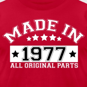 MADE IN 1977 ALL ORIGINAL PARTS T-Shirts - Men's T-Shirt by American Apparel