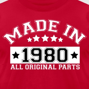 MADE IN 1980 ALL ORIGINAL PARTS T-Shirts - Men's T-Shirt by American Apparel