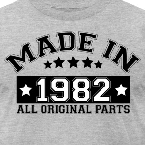 MADE IN 1982 ALL ORIGINAL PARTS T-Shirts - Men's T-Shirt by American Apparel