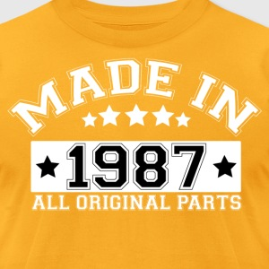 MADE IN 1987 ALL ORIGINAL PARTS T-Shirts - Men's T-Shirt by American Apparel