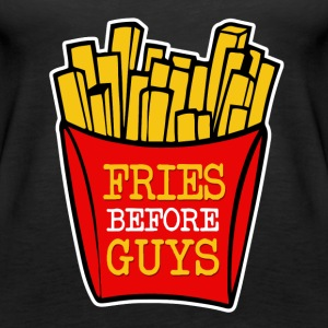 Fries Before Guys funny - Women's Premium Tank Top