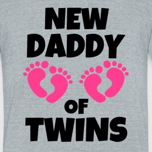 New Daddy of Twins Girls funny dad to be - Unisex Tri-Blend T-Shirt by American Apparel