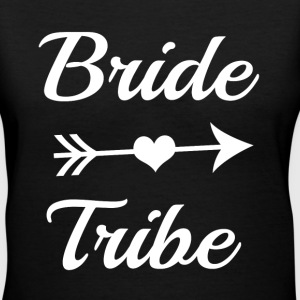 Bride Tribe Bridesmaid funny shirt - Women's V-Neck T-Shirt