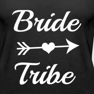Bride Tribe Bridesmaid funny shirt - Women's Premium Tank Top