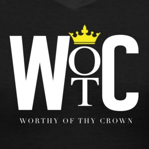 WOTC (Worthy Of thy Crown) - Women's V-Neck T-Shirt