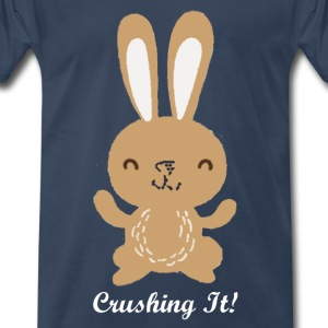 Crushing It Bunny - Men's Premium T-Shirt