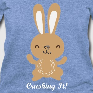 Crushing It Bunny - Women's Wideneck Sweatshirt