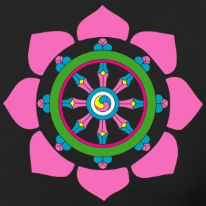 Dharma wheel Long Sleeve Shirts - Men's Long Sleeve T-Shirt by Next Level