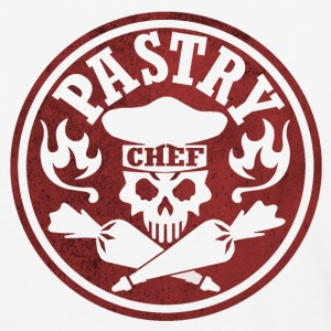 Pastry Chef Skull Red - Baseball T-Shirt