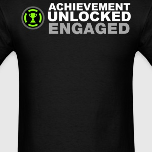 Achievement Unlocked Engaged - Men's T-Shirt