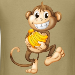 monkey funny with bananas - Men's T-Shirt