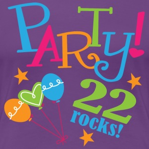 22nd Birthday 22 Rocks Party Women's T-Shirts - Women's Premium T-Shirt