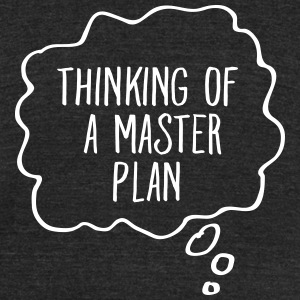 Thinking Of A Master Plan T-Shirts - Unisex Tri-Blend T-Shirt by American Apparel
