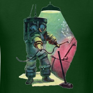 Vintage Armor Diver with Underwater Cutting Torch - Men's T-Shirt