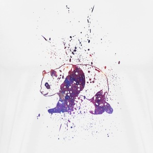 Panda Galaxy Splash  - Men's Premium T-Shirt