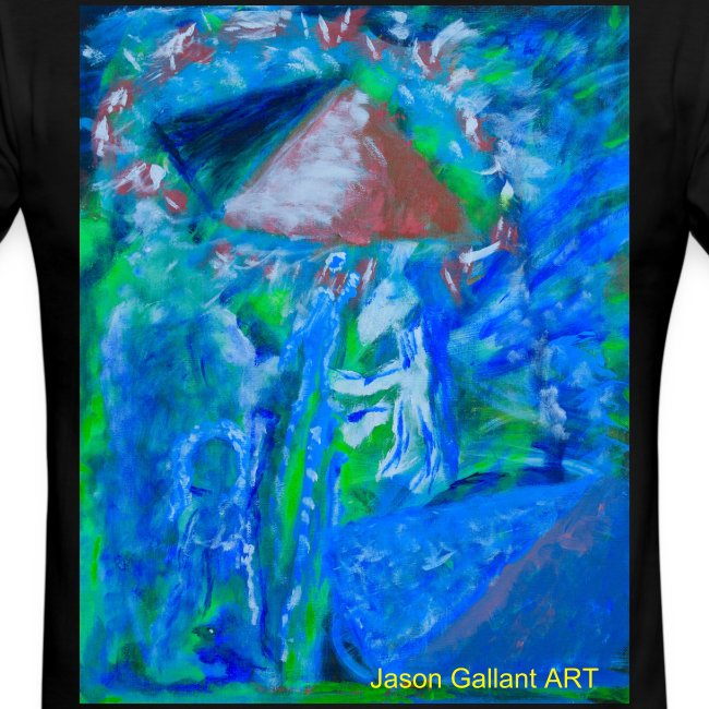 The Pyramids of Power, Men's T-shirt with cuffs