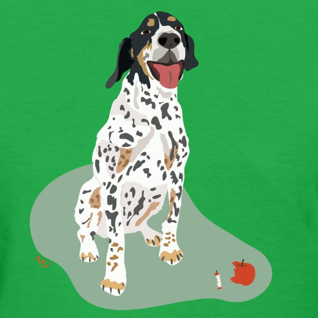 Women's Tee | Spotted Apple Eater Hound