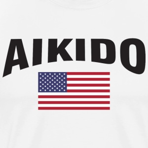 Aikido United States US Flag - Men's Premium T-Shirt