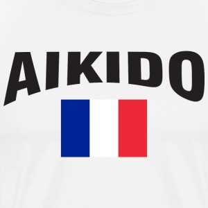 Aikido France Flag - Men's Premium T-Shirt