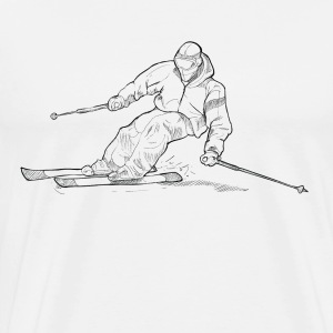 ski man black - Men's Premium T-Shirt