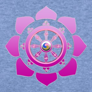 Dharma wheel Long Sleeve Shirts - Women's Wideneck Sweatshirt