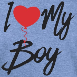 I love my boy couple002 - Women's Wideneck Sweatshirt