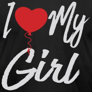 I love my Girl couple001 - Men's T-Shirt by American Apparel