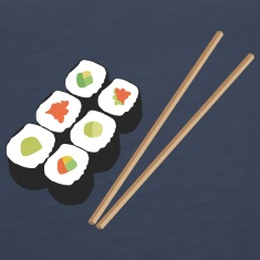 Sushi rolls with chopsticks Tanks